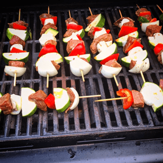 Delicious Grilled Beef Kabob Propane Grill